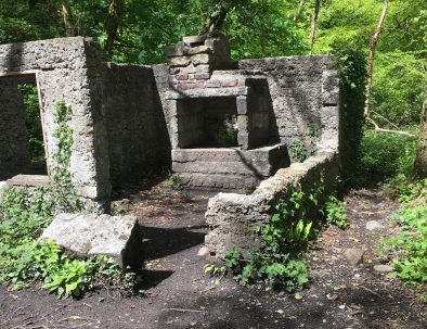 See the ruins at Kennall Woods
