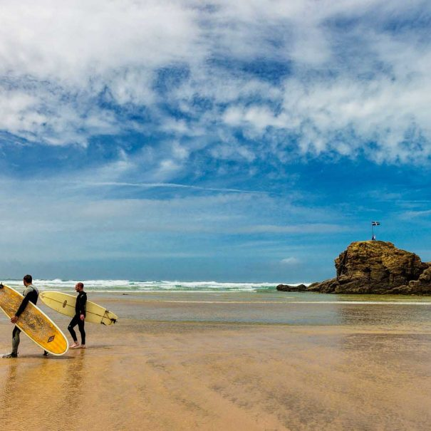 Perranporth Beach (10 min drive to this surfing paradise)